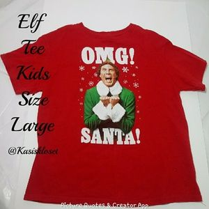 ❗2/$20❗ Elf Holiday Kids Tee Size Large GUC